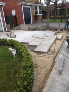 Driveway paving work in progress