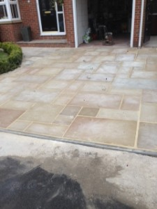 Driveway paving view of finished job