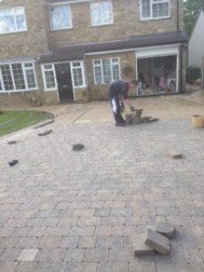 Leeds Paving Contractors at work