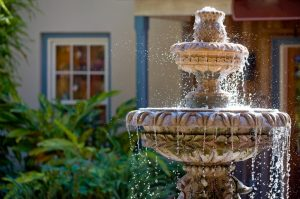 Harrogate driveway ideas water fountain