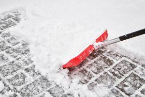 Clearing snow - driveway repairs