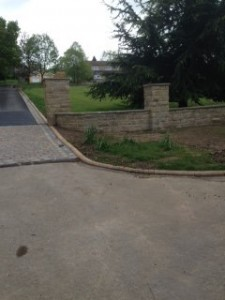 Entrance to Wetherby driveway