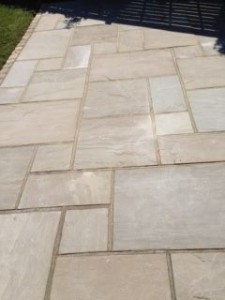 Different sized block paving