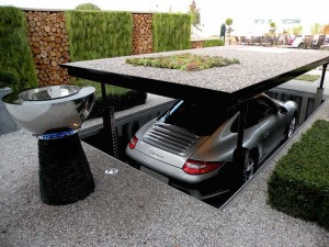 Amazing driveway with underground parking