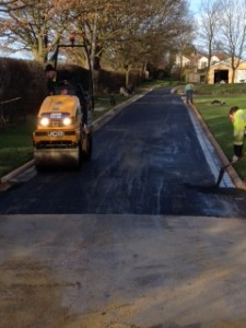 Rolling tarmac on Wetherby driveway
