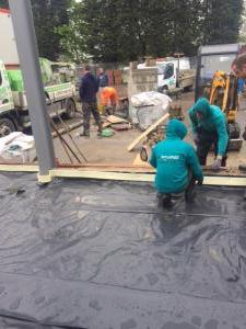 The team contructing a driveway leeds