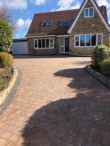 Little Ribston beautiful brindle driveway with charcoal border