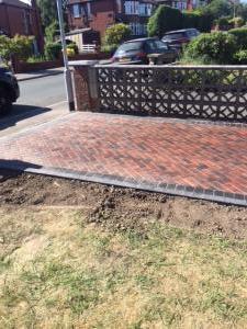 Brindle block paving driveway