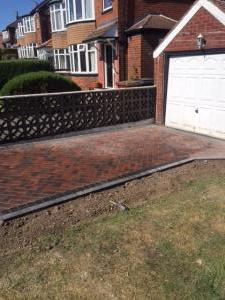 Charcoal border block paving in Brindle