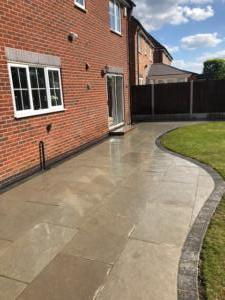 Slick patio and side pathway