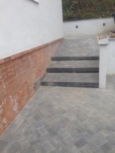 Brick edging steps