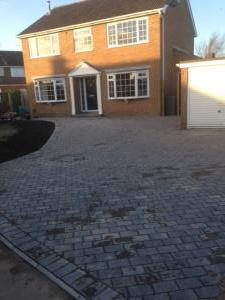 Large driveway block paving