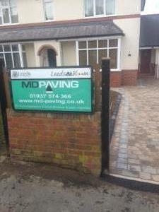 MD Paving sign driveways Harrogate