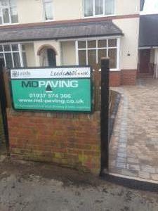 MD Paving sign driveways Harrogate