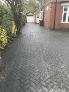 Herringbone block paving driveway, Roundhay Leeds