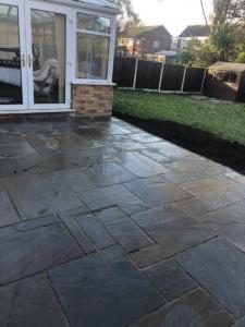 New Whitby Indian Stone Patio with Tumbled edge