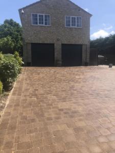Peak stone driveway Lumby